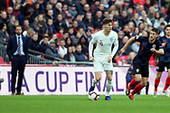 England's John Stones dribbling with England's manager Gareth Southgate looking on during the UEFA Nations League match between England and Croatia at Wembley Stadium, London, England on 18 November 2018.