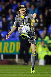 Dean Hammond (ENG) of Leicester City in action - Photo mandatory by-line: Rogan Thomson/JMP - 07966 386802 - 14/04/2014 - SPORT - FOOTBALL - Madejski Stadium, Reading - Reading v Leicester City - Sky Bet Football League Championship.