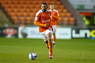 Blackpool Forward Keshi Anderson (8) moves forward with the ball during the EFL Sky Bet League 1 match between Blackpool and Doncaster Rovers at Bloomfield Road, Blackpool, England on 4 May 2021.