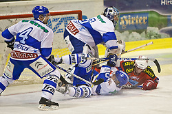 03.12.2010, Stadthalle, Klagenfurt, AUT, EBEL, EC KAC vs KHL MEDVESCAK ZAGREB, im Bild KAC KALT #74, KHL MEDVESCAK ZAGREB KRISTAN #33, POWERS #55, BRUMERICIK #4, EXPA Pictures © 2010, PhotoCredit: EXPA/ G. Steinthaler, EXPA Pictures © 2010, PhotoCredit: EXPA/ G. Steinthaler, EXPA Pictures © 2010, PhotoCredit: EXPA/ G. Steinthaler