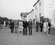 Belgian Royals King Baudouin and Queen Fabiola at Áras an Uachtarain.<br /> 17.05.1968