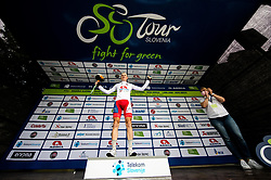 Kristijan HOCEVAR of ADRIA MOBIL celebrates during 2nd Stage of 27th Tour of Slovenia 2021 cycling race between Zalec and Celje (147 km), on June 10, 2021 in Slovenia. Photo by Vid Ponikvar / Sportida