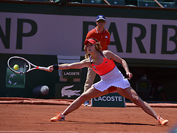 June 1, 2017 - Roland Garros Porte D Auteuil, France - 5e  journee :  Alize Cornet vs Barbora Strycova ces5e  journee :  Alize Cornet (Credit Image: © Panoramic via ZUMA Press)