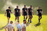 Rugby Union - 2020 / 2021 Gallagher Premiership - Round Eight - Wasps vs Northampton Saints - Ricoh Stadium<br /> <br /> Wasps' Brad Shields and his pack walk towards a line out.<br /> <br /> COLORSPORT/ASHLEY WESTERN