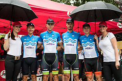 Team Slovenia with TEM Catez hostesses during 5th Stage of 26th Tour of Slovenia 2019 cycling race between Trebnje and Novo mesto (167,5 km), on June 23, 2019 in Slovenia. Photo by Matic Klansek Velej / Sportida