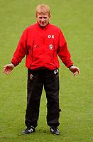 Photo. Richard Lane<br />Southampton FC FA Cup Preview Day at St. Mary's. 13/05/2003.<br />Southampton manager, Gordon Strachan.