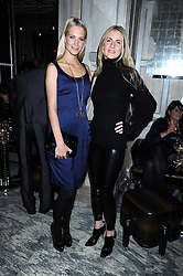 Left to right, POPPY DELEVIGNE and her sister CHLOE BUCKWORTH at a party for Yves Saint Laurent's Creative Director Stefano Pilati given by Colin McDowell held at The Connaught Bar, The Connaught, Mount Street, London on 29th October 2008.