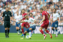 September 15, 2018 - Lucas of Tottenham Hotspur during the Premier League match between Tottenham Hotspur and Liverpool at Wembley Stadium, London, England on 15 September 2018. Photo by Salvio Calabrese. (Credit Image: © AFP7 via ZUMA Wire)