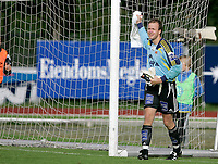 Fotball<br /> Treningskamp<br /> 15.07.2007<br /> Haugesund v Viking<br /> Foto: Jan Kåre Ness, Digitalsport<br /> <br /> Thomas Myhre - Viking<br /> <br /> Myhre ble skadet og måtte gå ut