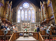 Photo by Mara Lavitt<br /> August 27, 2017<br /> New Haven, CT<br /> The Episcopal Church at Yale weekly service at Trinity Church on the Green.
