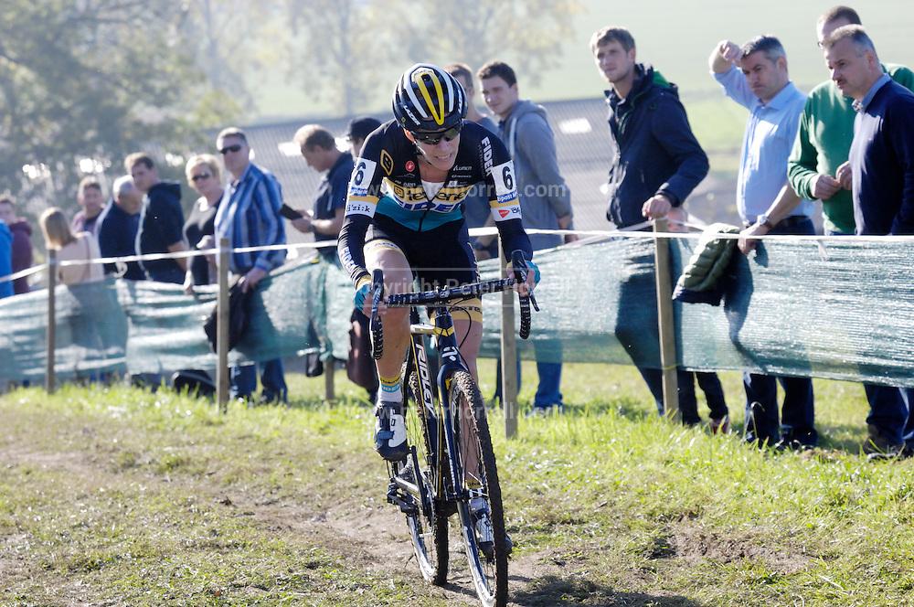Belgium, November 1 2015:  Ellen Van Loy during the elite women's race at the Koppenbergcross 2015 cyclocross event.<br /> Copyright 2015 Peter Horrell.