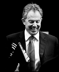 Prime Minister Tony Blair leaves Number 10 for PMQ in the House of Commons PRESS ASSOCIATION Photo. Picture date:Wednesday 7th February  , 2007. Photo credit should read: Andrew Parsons/PA.