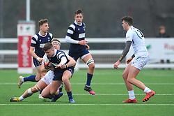 Tom Jones of Bristol Bears Academy U18 is tackled -Mandatory by-line: Nizaam Jones/JMP- 05/01/2019 - RUGBY - North Bristol RFC - Bristol, England - Bristol Academy U18 v Exeter Chiefs U18-U18 Academy League