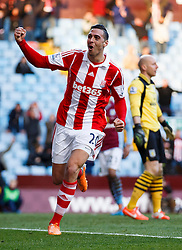 Stoke Defender Geoff Cameron (USA) celebrates scoring a goal - Photo mandatory by-line: Rogan Thomson/JMP - 07966 386802 - 23/03/2014 - SPORT - FOOTBALL - Villa Park, Birmingham - Aston Villa v Stoke City - Barclays Premier League.