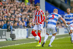 March 9, 2019 - London, England, United Kingdom - Stoke City's Thomas Ince is challenged by Queens Park Rangers Jake Bidwell during the first half of the Sky Bet Championship match between Queens Park Rangers and Stoke City at Loftus Road Stadium, London on Saturday 9th March 2019. (Credit Image: © Mi News/NurPhoto via ZUMA Press)