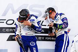 Lando Norris (L) 3rd place finish | #31 Carlin | MSA Formula Championship | Race 3 - Mandatory byline: Rogan Thomson/JMP - 07966 386802 - 28/06/2015 - SPORT - MOTORSPORT - North Yorkshire, England - Croft Circuit - BTCC Meeting Day 2.