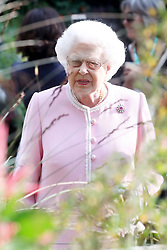 Queen Elizabeth II attends the RHS Chelsea Flower Show at the Royal Hospital Chelsea, London.