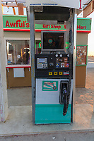 "Awful's Gas & Snack<br /> by: Matthew Gerring & Crank Factory<br /> from: San Francisco, CA<br /> year: 2019<br /> <br /> Awful's Gas & Snack: Your Gateway to the Big Wild! See one of the few remaining gasoline stations, painstakingly preserved since the mid-21st century. Travel back to a time when hardy men roamed the ""open road"" seeking fortune & freedom. Wilderness passes & provisions available. NO GAS AVAILABLE FOR PURCHASE, PLEASE DON'T ASK.<br /> <br /> URL: http://awfulsgas.com<br /> Contact: awfuls@awfulsgas.com<br /> <br /> https://burningman.org/event/brc/2019-art-installations/?yyyy=&artType=H#a2I0V000001AVwVUAW"