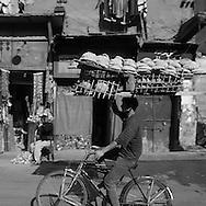 Egypt . Cairo : Al Mu'izz LI  DIN Allah street street life in front of SULTAN AL Muyyad - Mu'ayyad - mosque in Bab Zuwayla area. old islamic cairo