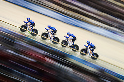February 28, 2019 - Pruszkow, Poland - Letizia Paternoster (ITA) Martina Alzini (ITA) Elisa Balsamo (ITA) Vittoria Guazzini (ITA) on day two of the UCI Track Cycling World Championships held in the BGZ BNP Paribas Velodrome Arena on February 28, 2019 in Pruszkow, Poland. (Credit Image: © Foto Olimpik/NurPhoto via ZUMA Press)