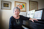 The Author Judith Chernaik known as one of the founders of Poems on the Underground and her latest book Schumann, released in September 2018. Photographed in her London home on the 9th of May 2018.