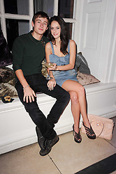 Kaya Scodelario and  at a party to celebrate the Mulberry Autumn Winter 2010 collection held at The Orangery, Kensington Palace, London on 21st February 2010.