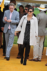 LILY ALLEN and SAM COOPER at the 2011 Veuve Clicquot Gold Cup Final at Cowdray Park, Midhurst, West Sussex on 17th July 2011.