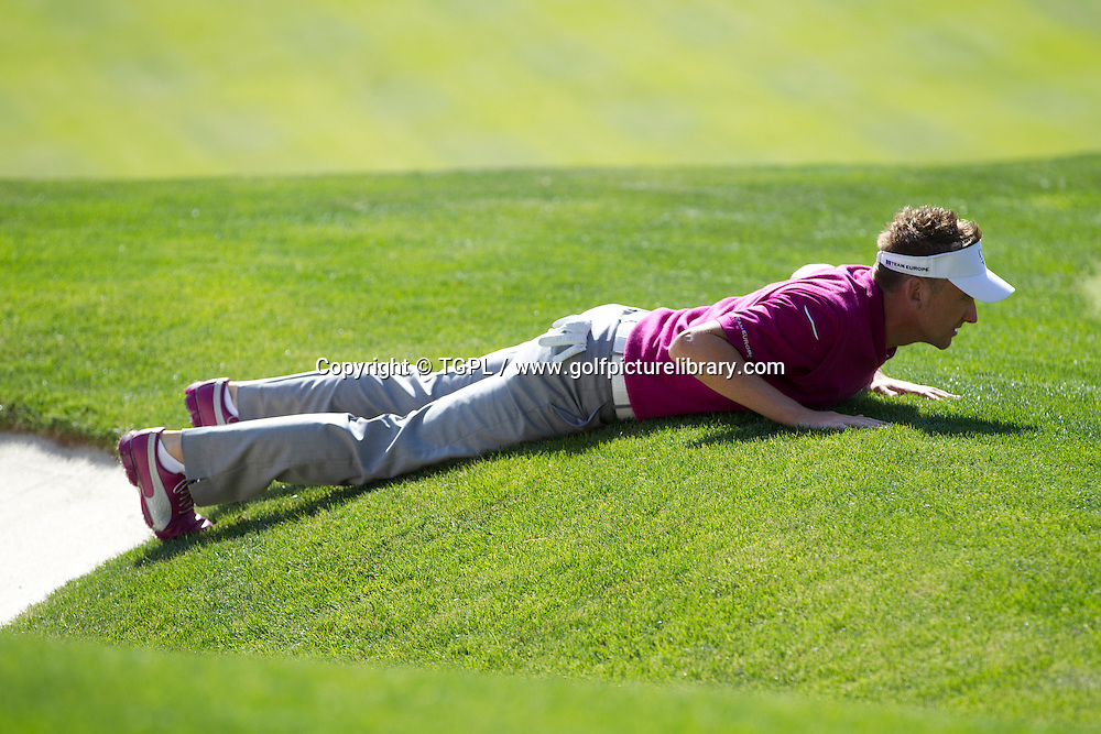 Ian POULTER (EUR) during morning Foursomes,Ryder Cup Matches,Medinah CC,<br /> Medinah,Illinois,USA.