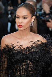 Joan Smalls attending the premiere of the film Les Filles du Soleil during the 71st Cannes Film Festival in Cannes, France on May 12, 2018. Photo by Julien Zannoni/APS-Medias/ABACAPRESS.COM