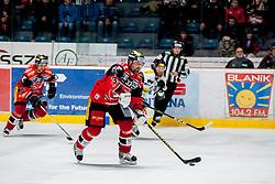 08.01.2017, Ice Rink, Znojmo, CZE, EBEL, HC Orli Znojmo vs Dornbirner Eishockey Club, 41. Runde, im Bild v.l. Jiri Beroun (HC Orli Znojmo) Peter Pucher (HC Orli Znojmo) Kevin Schmidt (Dornbirner) // during the Erste Bank Icehockey League 41th round match between HC Orli Znojmo and Dornbirner Eishockey Club at the Ice Rink in Znojmo, Czech Republic on 2017/01/08. EXPA Pictures © 2017, PhotoCredit: EXPA/ Rostislav Pfeffer