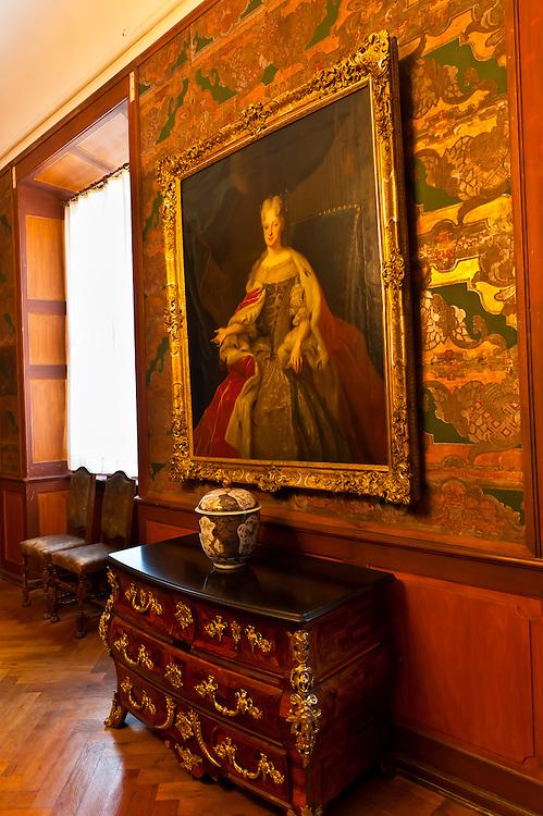 Interior view, Schloss Moritzburg (castle), Moritzburg, Saxony, Germany