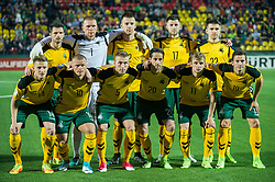 VILNIUS, June 11, 2017  Players of Lithuania pose for a group photo before the FIFA World Cup European Qualifying Group F match between Lithuania and Slovakia at LFF Stadium in Vilnius, Lithuania on June 10, 2017. Slovakia won 2-1. (Credit Image: © Alfredas Pliadis/Xinhua via ZUMA Wire)