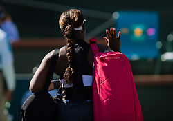 March 8, 2019 - Indian Wells, USA - Sloane Stephens of the United States in action during her second-round match at the 2019 BNP Paribas Open WTA Premier Mandatory tennis tournament (Credit Image: © AFP7 via ZUMA Wire)