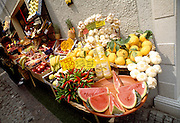 Grocery stall in Limonde Sul Garda, Lake Garda, Italy