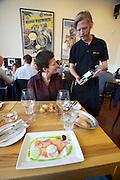 Malmö. Salt & Brygga restaurant serves manly local organic food.
