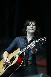 KT Tunstall performs on stage at Live and Loud, Hampden Park on 26 June 2005.