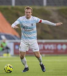 Jonas Henriksen (FC Helsingør) under kampen i 1. Division mellem FC Helsingør og Kolding IF den 24. oktober 2020 på Helsingør Stadion (Foto: Claus Birch).
