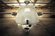 Israeli Air force (IAF) IAI Heron (IAI Shoval) an Unmanned Aerial Vehicle (UAV) developed by the Malat division of Israel Aerospace Industries. closeup of the nose