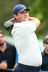 May 4, 2019 - Charlotte, NC, U.S. - CHARLOTTE, NC - MAY 04: Patrick Reed plays his shot from the 1st tee during round three of the Wells Fargo Championship on May 04, 2019 at Quail Hollow Club in Charlotte,NC. (Photo by Dannie Walls/Icon Sportswire) (Credit Image: © Dannie Walls/Icon SMI via ZUMA Press)