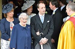 Right, Nicholas Knatchbull at the wedding of the Hon.Alexandra Knatchbull to Thomas Hooper held at Romsey Abbey, Romsey, Hampshire on 25th June 2016