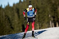 Tarjei Boe (NOR) in action during the Men 10km Sprint at day 6 of IBU Biathlon World Cup 2018/19 Pokljuka, on December 7, 2018 in Rudno polje, Pokljuka, Pokljuka, Slovenia. Photo by Vid Ponikvar / Sportida