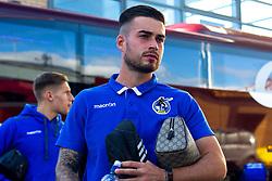 Michael Kelly of Bristol Rovers arrives at the Northern Commercials Stadium, home to Bradford City - Mandatory by-line: Ryan Crockett/JMP - 29/09/2018 - FOOTBALL - Northern Commercials Stadium - Bradford, England - Bradford City v Bristol Rovers - Sky Bet League One