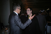 Jay Jopling and Mathew Marks, Ellsworth Kelly exhibition opening. Serpentine Gallery and afterwards at the River Cafe. London. 17 March 2006. ONE TIME USE ONLY - DO NOT ARCHIVE  © Copyright Photograph by Dafydd Jones 66 Stockwell Park Rd. London SW9 0DA Tel 020 7733 0108 www.dafjones.com