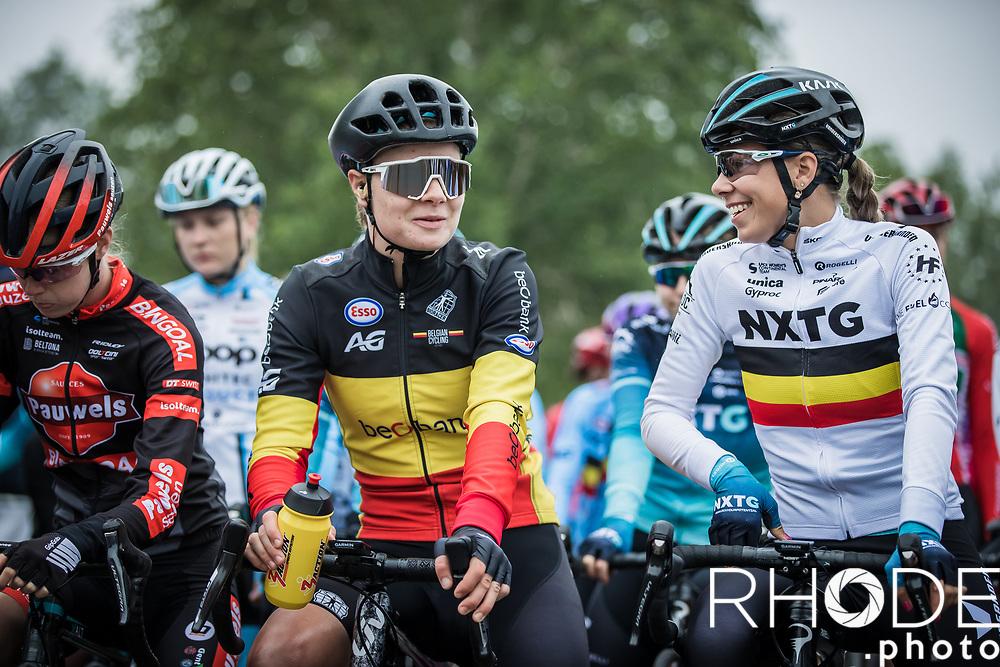 Belgian National Champion, Lotte Kopecky (BEL/Liv Racing)<br /> <br /> 1st Dwars Door Het Hageland Women Elite <br /> One Day Race: Aarschot > Diest 122km<br /> Bingoal Cycling Cup 2021<br /> <br /> ©RhodePhoto