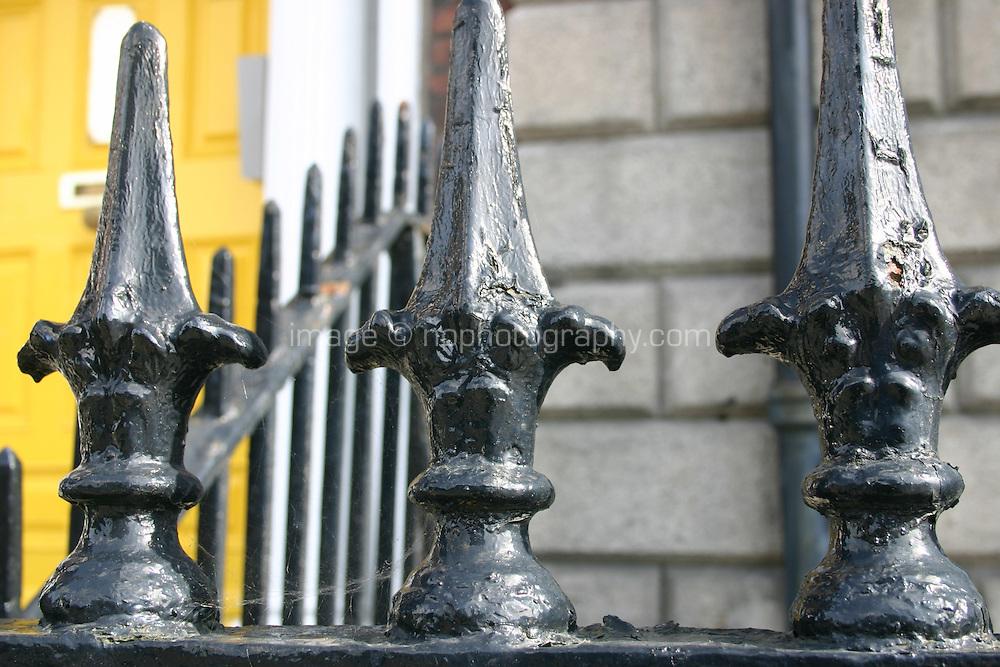 Railings outside georgian building Dublin Ireland