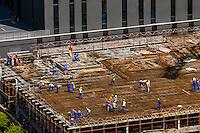 Construction site, Sandton, Johannesburg, South Africa.