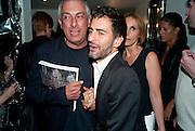RIFAT OSBEC; MARK JACOBS, Mark Jacobs' Bang' fragrance preview. Harvey Nicholls. London. 22 July 2010. -DO NOT ARCHIVE-© Copyright Photograph by Dafydd Jones. 248 Clapham Rd. London SW9 0PZ. Tel 0207 820 0771. www.dafjones.com.
