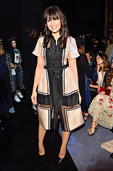 © Licensed to London News Pictures. 21/02/2016.  DAISY LOWE attends the Temperley show at the London Fashion Week Autumn/Winter 2016 show. Models, buyers, celebrities and the stylish descend upon London Fashion Week for the Autumn/Winters 2016 clothes collection shows. London, UK. Photo credit: Ray Tang/LNP