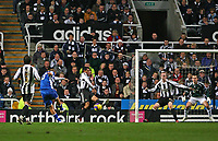 Photo: Andrew Unwin.<br /> Newcastle United v Reading. The Barclays Premiership. 06/12/2006.<br /> Reading's James Harper (L) equalises for his team after his shot deflects off Newcastle's Nolberto Solano.