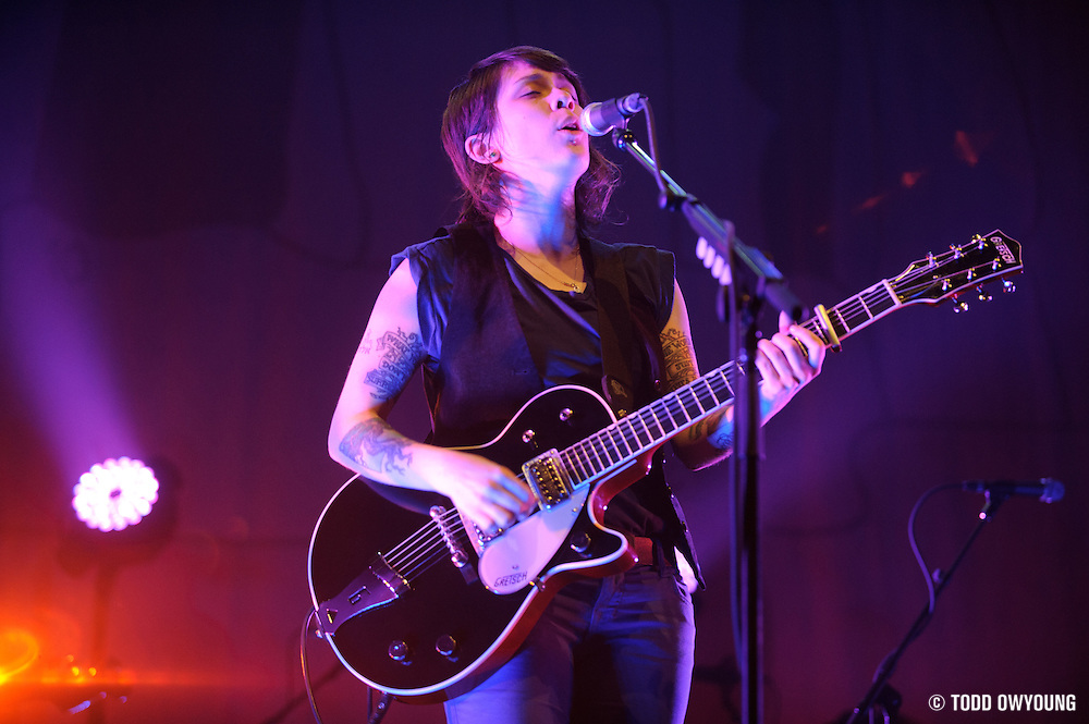 Photos of Tegan & Sara performing at the Pageant in St. Louis on April 2, 2010 in support of their late 2009 release, Sainthood.